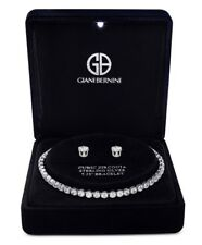 NEW Giani Bernini sparkling Tennis Bracelet & Earring Set- MSRP $125- Great Deal