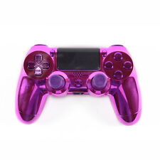 Chrome Purple Custom Replacement PS4 Thumbsticks Controller Shell Case Buttons
