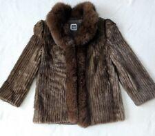 VTG SAGA Mink Brown Bomber Jacket Fur Coat Women's size Small