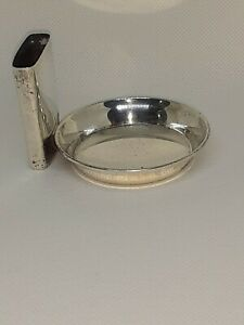 Vintage Sterling Silver Ashtray And Match Box -Starr And Gorham 1.4oz 2x3""