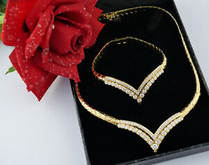 Collier Armband necklace bracelet 750 Gold hochklassig Brillant diamond 6,05 ct.