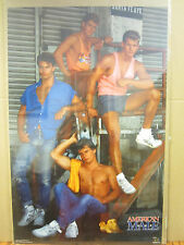 Vintage American Male 1989 poster hot guys  3642