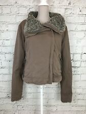 BENCH Brown Warm Thick Faux Fur Inside Zip Front Jacket Coat Size L