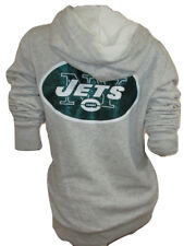 Victoria's Secret PINK NFL New York JETS Faux-Fur Lined Bling Hoodie Gray Small