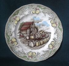 JOHNSON BROTHERS FRIENDLY VILLAGE LUNCHEON PLATE IRONSTONE STARTER SALAD PLATE