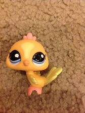 Littlest Pet Shop LPS #1893 Peach Peacock with blue eyes