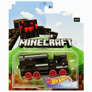 Hot Wheels MINECRAFT SPIDER 5/7 Mojang Gaming Character Cars 2020 NEW on Card