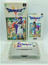 Genuine Dragon Quest V 5 Video Game for Nintendo Super Famicom JAPANESE BOXED