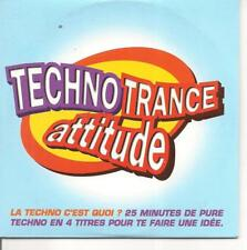 CD SINGLE 4 TITRES--TECHNO TRANCE ATTITUDE--THE NAKED SOUL/QUADRA BEAT...