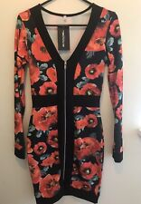 PrettyLittleThing Bodycon Zip Up Dress - Size 8 New With Tags