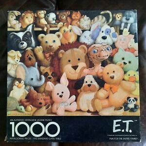Vintage 1982 E.T. Puzzle 1000 pieces Springbok Universal Studios complete
