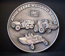 John Deere Welland Canada Employee 1999 Safety Award Pewter Medallion Ltd Ed 308
