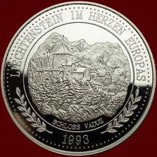 Liechtenstein 1993 Vaduz Castle 20 Ecu 1oz Silver Coin,Proof