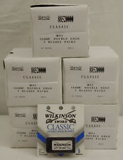 500 Wilkinson Sword Classic Double Edge Safety Shaving Blades / 100 packs x 5