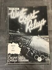 West Coast Relays Junior College Championships Track Field May 17 1947 Program