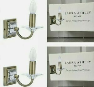 Laura Ashley Carson Antique Brass Wall Light x2 Lights (1x Pair) New in box