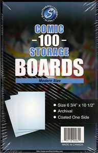 Southern Hobby Comic Boards (Current/Silver/Gold/Magazine)(100/500/1000)