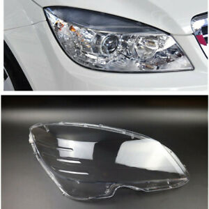 1PC Right Side Headlight Lens Cover For Mercedes-Benz C-Class W204 2008-2010