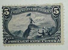 Travelstamps: 1898 US Stamps Scott # 288 Rocky Mountains, mint, og, light hinge