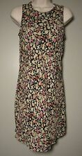 My Michelle Floral Dress size 7/8 Multi Color Lined Black Yellow sage red