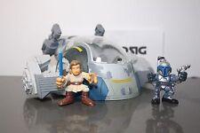 Star Wars Galactic Heroes Rare Jango Fett's Slave 1  Jango Fett Obi Wan Helmet