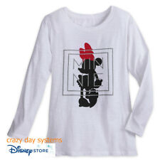 Disney Store Minnie Mouse Silhouette Long Sleeve Tee Vogue Style Size XL Women