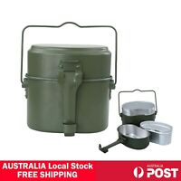 Outdoor Portable Cooking Camping Hiking Cookware Set Army Mess Kit Military Cook