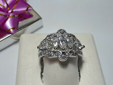 Style Sterling Silver 925 Ring #11530 2.0cttw Marquise & Round Cut Cz Victorian