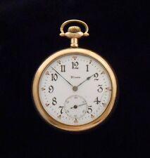 Illinois Pocket Watch Piqua Ohio Gold Filled Engraved Wilmer 1914 Running