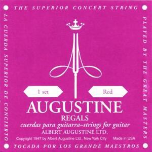 Augustine 650527 Regals Label Classical Guitar String Kit - Red medium .75-1.08A