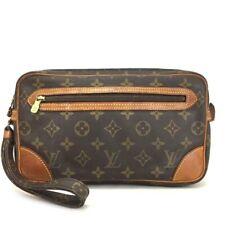 100% Authentic Louis Vuitton Monogram Marly Dragonne Clutch Hand Bag /569