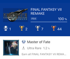Final Fantasy VII Remake PS4 Platinum Trophy Service