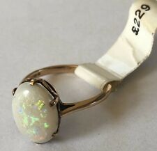 9ct Rose Gold White Opal Ring.