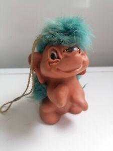 Rauls Happy Gang Hedgehog Troll Blue Hair, ooak, gonk
