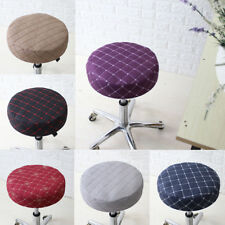 """33cm 13"""" 40cm 16"""" Bar Stool Covers Round Chair Seat Cushion Protector Slipcovers"""