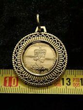 Gold Münze Medaille 585 Queen 1965 GOLD gefasst Münzhalter MÜNZE Anhänger Rhein