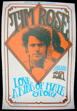TIM ROSE Love, A Kind Of Hate Story 1971 US Promo POSTER Singer-Songwriter