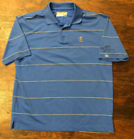 Cutter And Buck Dry Tec Mens XL Royal Blue Golf Shirt Club Logo