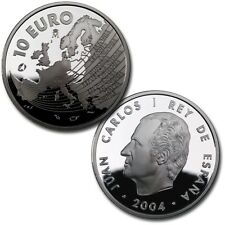 ESPAÑA SPAIN AMPLIACION UNION EUROPEA 2004 10 EUROS PLATA PROOF