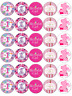 30x 1st Birthday Girl Pink Cupcake Toppers Edible Wafer Paper Fairy Cake Toppers