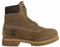 Timberland 6 Inch Mens Taupe Leather Lace Up Boots 71594 WH