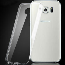 For Samsung Galaxy S6 Edge Clear Silicone Gel Case Slim Transparent Soft Cover
