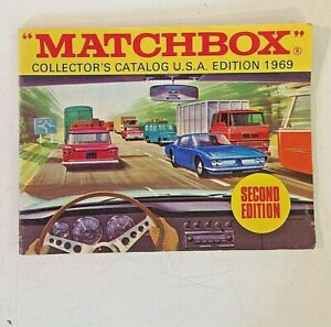 Vintage Color Matchbox Collector's Catalog USA Second Edition 1969 Superfast 69