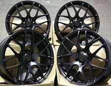 "19"" BLACK MS007 ALLOY WHEELS FITS AUDI A3 A4 A6 A8 Q3 Q5 TT 06> 5X112"