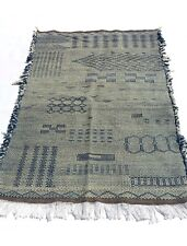 Moroccan Berber Kilim Blue Medium Area rug (3.3 x 5.6ft)