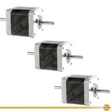 DE Free 3PCS Nema17 17HS4417B10 Schrittmotor Dual Shaft 1.7A 40mm 0.4Nm Φ 5mm