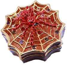 Red And Purple Spider Halloween Inspired Trinket Box