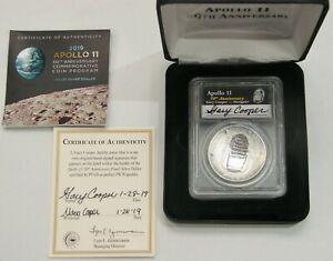 2019 P Proof Silver Apollo 11 Commemorative $1 PCGS PR 70 DCAM Signed by Cooper