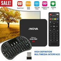 SXQ Pro Android 7.1 Smart TV Box Quad Core 4K 3D 64Bit 1080P HDMI WIFI+ Keyboard