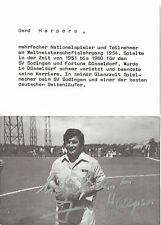 Autogramm Gerd Harpers Fußball 1954 WM Lehrgang Fortuna Düsseldorf 16 verst. s1